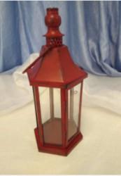 Red Hexagonal Lantern
