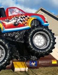 monster truck3 1619020003 The Monster Truck Bouncer & Slide Combo