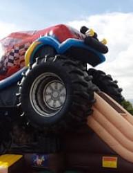 The Monster Truck Bouncer & Slide Combo