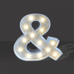 LED Light Up Ampersand - 120cm - &