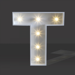LED Light Up Letter - 120cm - T