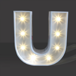 LED Light Up Letter - 120cm - U