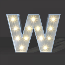 LED Light Up Letter - 120cm - W