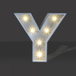 LED Light Up Letter - 120cm - Y