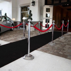 Black Carpet Aisle Runner Plush - 1.2m x 8m