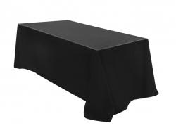 Black Tablecloth - Suit 2.4Mtr Trestle Table