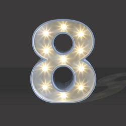 LED Light Up Number - 60cm - 8