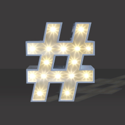 LED Light Up Hashtag - 120cm - #