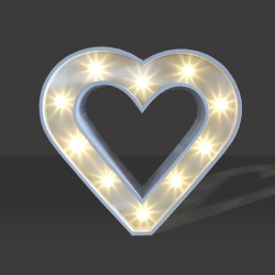 LED Light Up Love Heart - 60cm