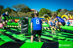 Inflatable Wipeout Meltdown Game