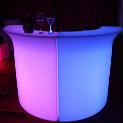 Illuminated Glow Bar - Corner