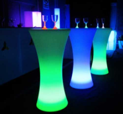Illuminated Glow Cocktail Bar - Round