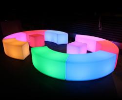 Illuminated Glow Bench - Curved
