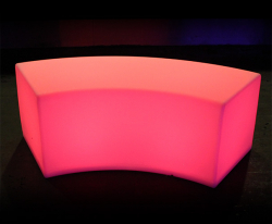 Illuminated Glow Bench - Curved