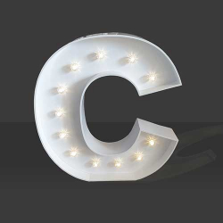 LED Light Up Letter - 120cm - C