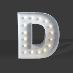 LED Light Up Letter - 120cm - D