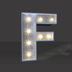LED Light Up Letter - 60cm - F