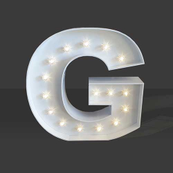 LED Light Up Letter - 120cm - G