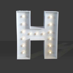 LED Light Up Letter - 120cm - H