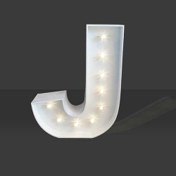 LED Light Up Letter - 60cm - J