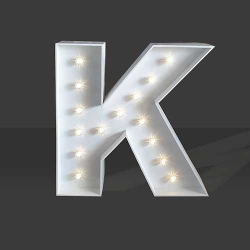 LED Light Up Letter - 120cm - K