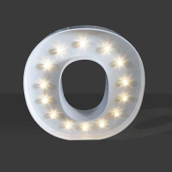 LED Light Up Letter - 60cm - O