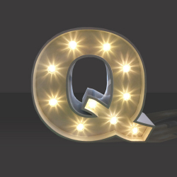 LED Light Up Letter - 120cm - Q