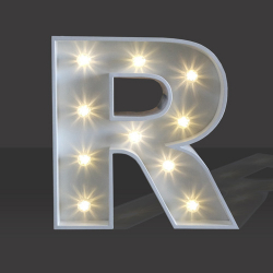 LED Light Up Letter - 60cm - R
