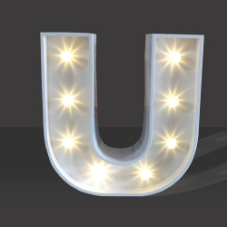 LED Light Up Letter - 60cm - U