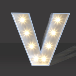 LED Light Up Letter - 60cm - V
