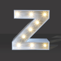 LED Light Up Letter - 120cm - Z
