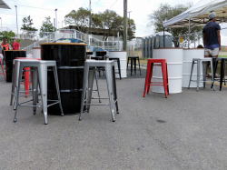 44 Gallon Drum Dry Bar Table White