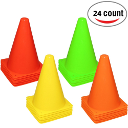 Activity Cones -24 Pieces - 4 Colors