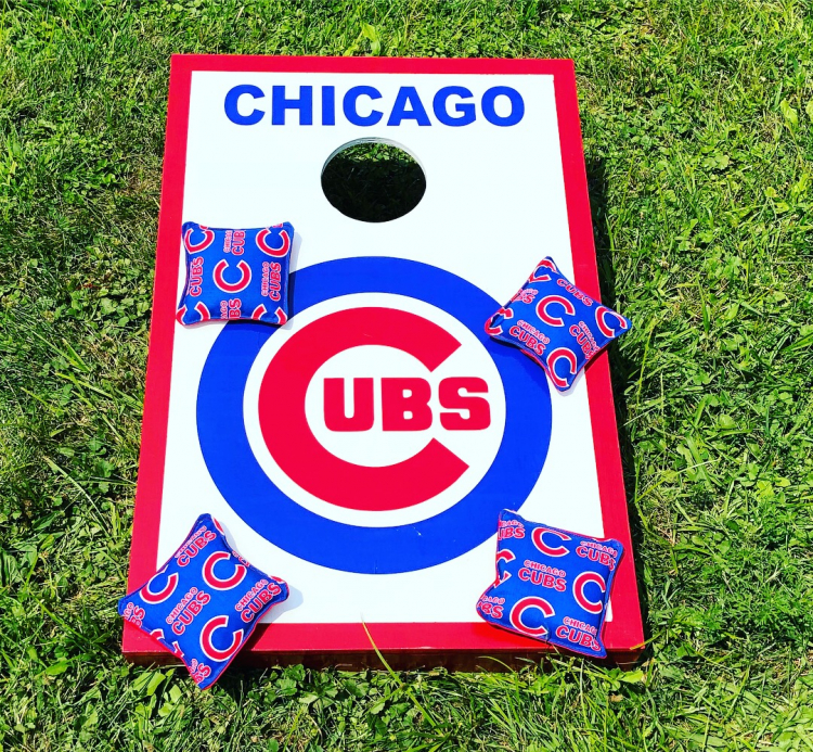 Corn Hole Bean Bag Toss Chicago Cubs Bounce Around Chicago