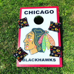 Corn Hole Bean Bag Toss - Chicago Blackhawks
