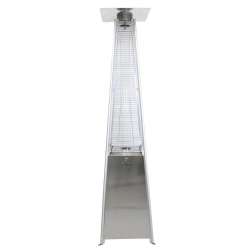 Patio Heater - Stainless Steel Pyramid Flame Gas - 42,000 BT