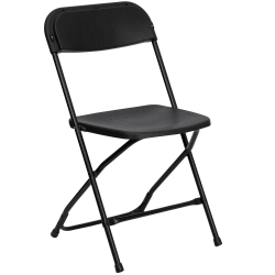 Plastic Folding Chairs - Black