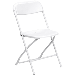 Plastic Folding Chairs - White