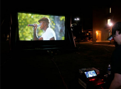 Movie Screen - Upgrade - AV Specialist Delivery, Setup & Pic