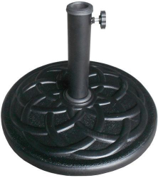 Umbrella Base - Stone - Black Resin