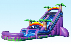 Water Slide - 18 FT Tropical Purple Paradise