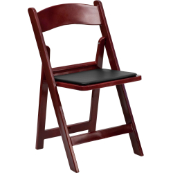 Wood Folding Chair - Red Mahogany
