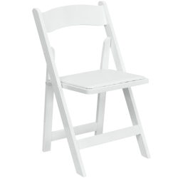 Wood Folding Chair - White