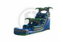 18' Blue Crush Water Slide with Splash Down Pool