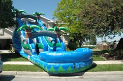 19' Tall Tropical Water Slide with Pool