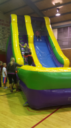 18' Giant Slide / Green and Purple with Pool