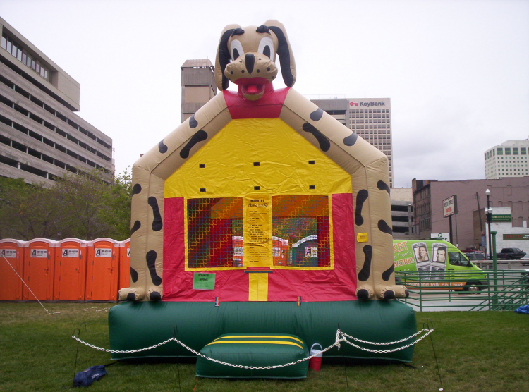 Superb Puppy Dog Bounce House Checketts Amusements Home Interior And Landscaping Spoatsignezvosmurscom