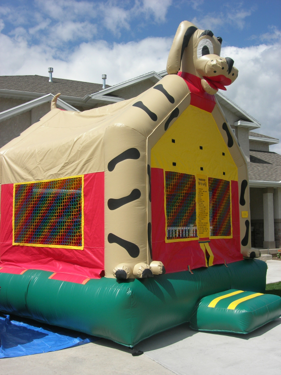 Fabulous Puppy Dog Bounce House Checketts Amusements Home Interior And Landscaping Spoatsignezvosmurscom