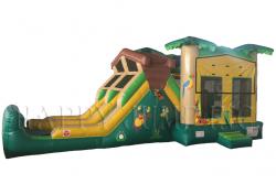 Jumbo Tropical Adventure Bounce and Double Slide