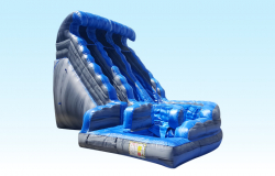 18FT Blue Marble curve Water slide